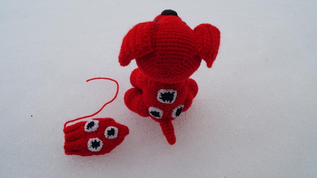 Вязание собачки из мультика варежка
