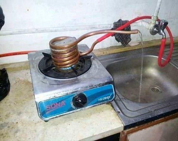 Сделать проточный водонагреватель своими руками