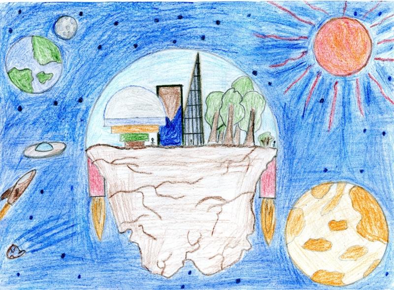 Город будущего картинки и рисунки дляей