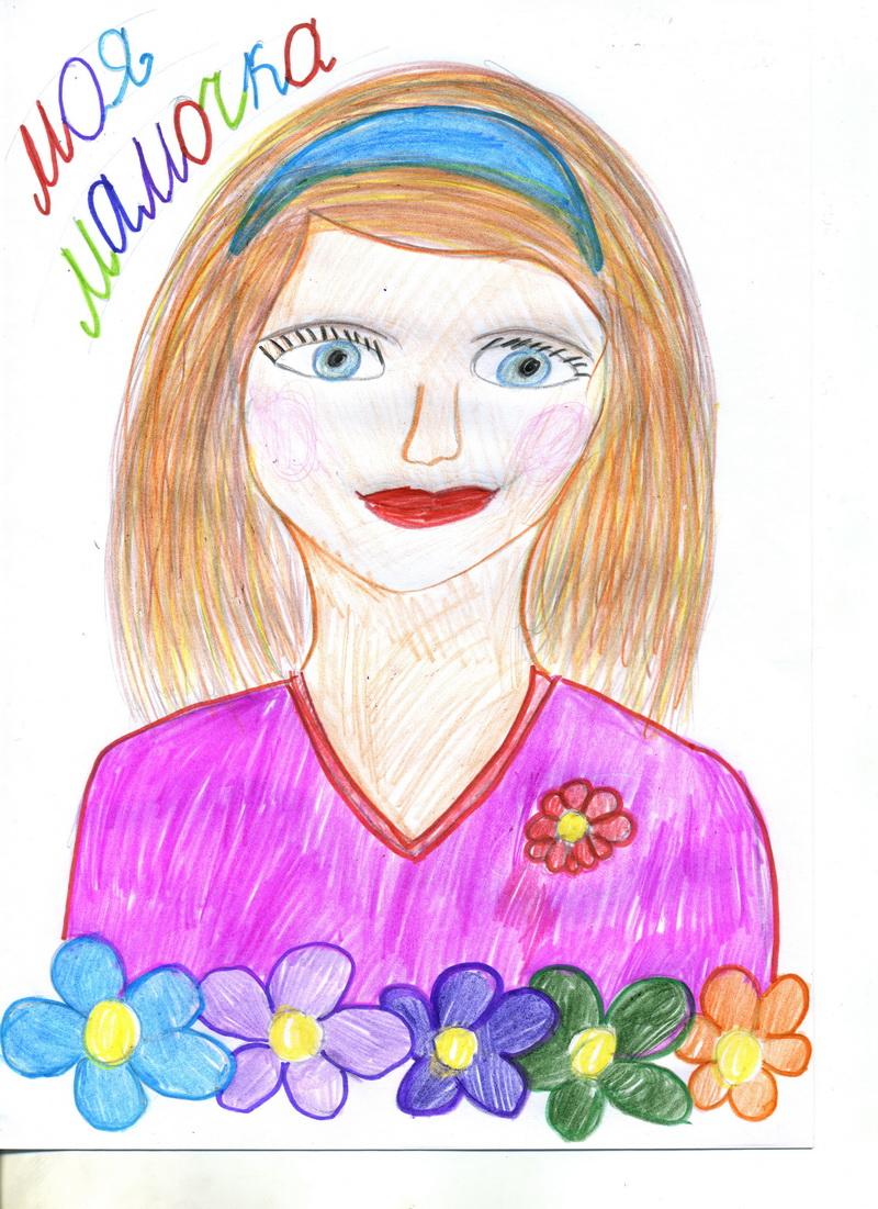 Картинка для мамы рисунок
